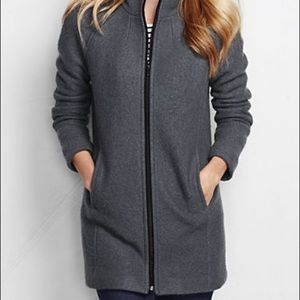 Land's End Boiled Wool Coat